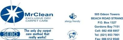 Foto de Mr Clean - Dry Carpet Cleaning &  Upholstery Stain Protection Services